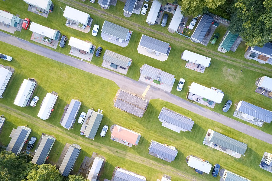 Caravan Site Park Aerial View Traveller Holiday Homes At Cloch S